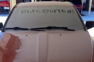 It's as if my own car is trying to tell me something...in the snow...two years ago...